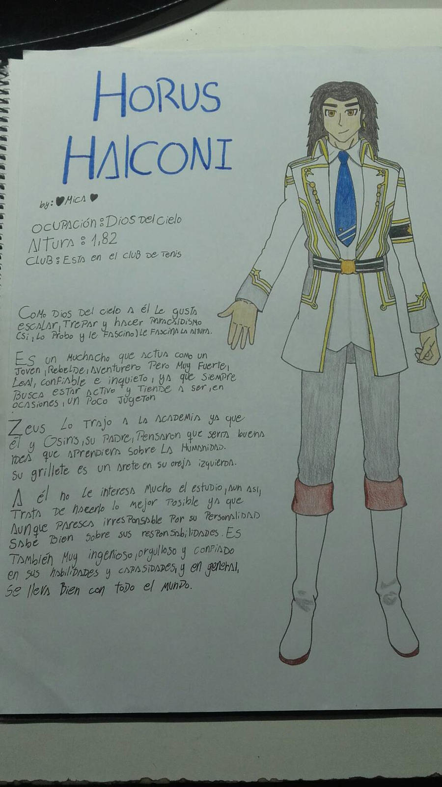 Horus Halconi OC by me by Mikal04-12