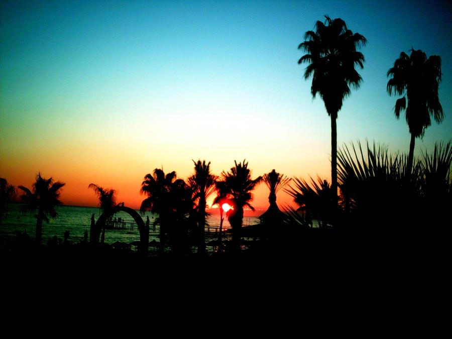 sunset - Antalya by Alexaaandra