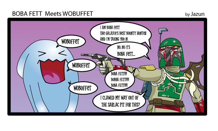WOBUFFET VS BOBA FETT by TamvakisPhoto