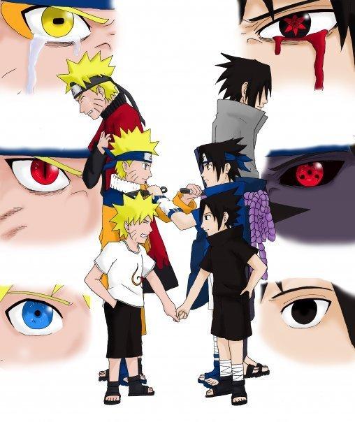 Naruto And Sasuke - Fanart by VitorAmorosoUzu