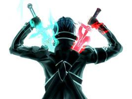 Sword art online Kirito Swords by VitorAmorosoUzu