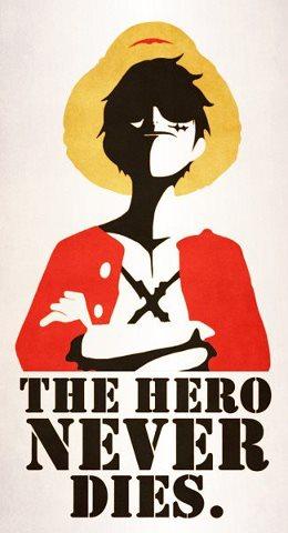 THE HERO NEVER DIES - Luffy by VitorAmorosoUzu