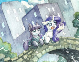 Maud and Rarity Detail by The-Wizard-of-Art