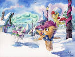 Snowball Fight! by The-Wizard-of-Art