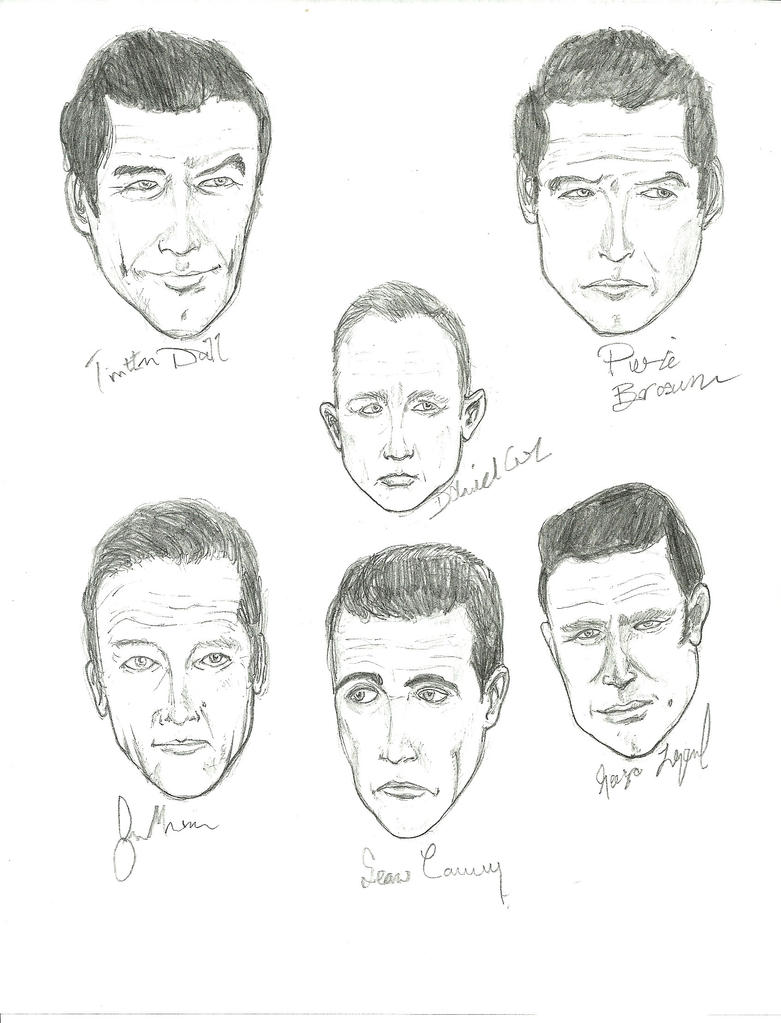 All 6 James Bond Actors by gandalf0987