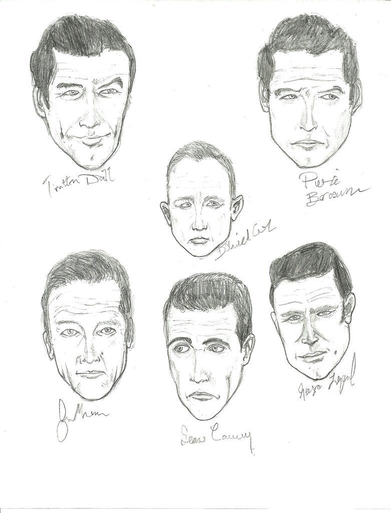 All 6 James Bond Actors by gandalf0987