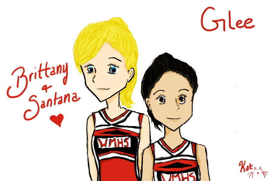 brittany and santana glee by thornkat17 on deviantart