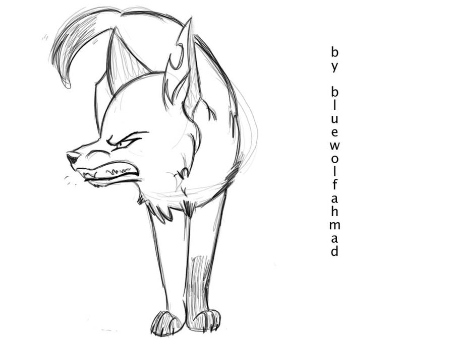 Wolf Growling Drawing Related Keywords & Suggestions - Wolf ...