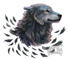 Wolf Smile by ArkyiVolg