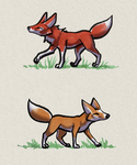 Fox and Fox by ArkyiVolg