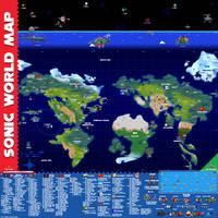 Sonic World Map by MajinsSketchbook