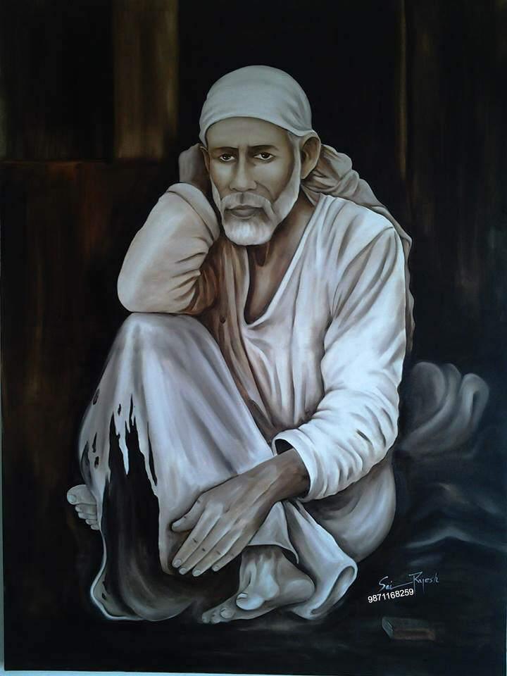 201671893718-sai Baba Painting Hd by sairattanrajesh