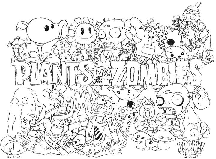 Plants vs zombies by superkew