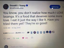 Totally real Trump tweet.