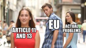 EU Article 11 and 13 meme