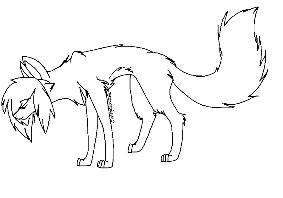 Wolf Lineart. Sparkle ...