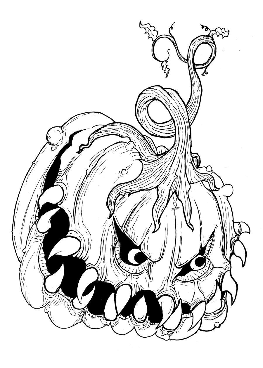 Jack-O-Lantern Sketch 2 by longestne on DeviantArt