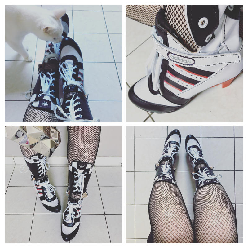 Harley's shoes by SpiderCoffee