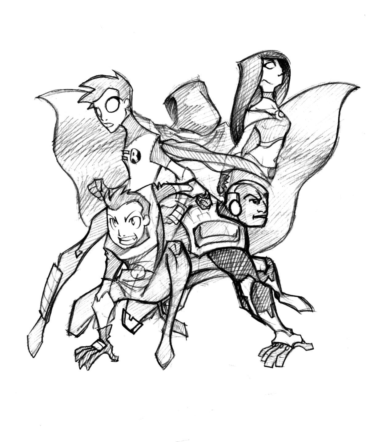 Teen Titans Doujinshi Pin Up by ~splendidriver on deviantART