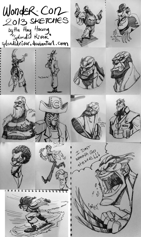 Wonder Con 2013 Sketches