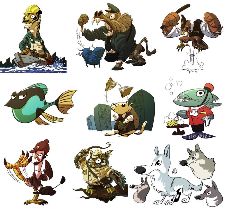 http://splendidriver.deviantart.com/art/Animals-434167309