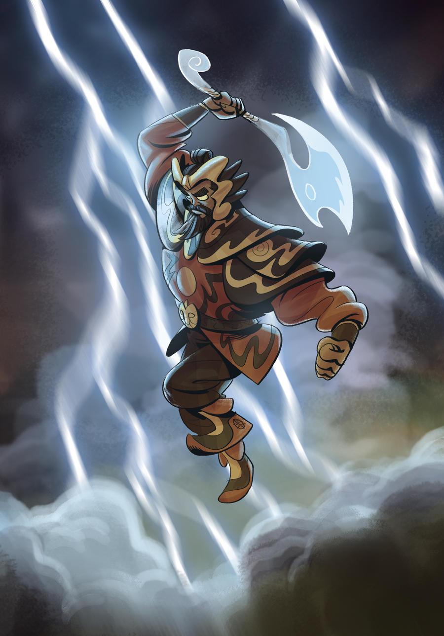 http://splendidriver.deviantart.com/art/The-God-of-Thunder-449624362