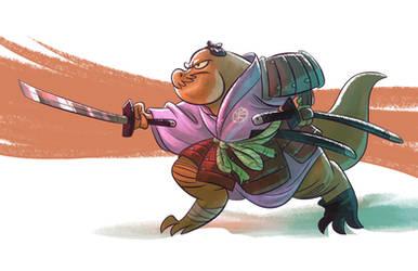 Samurai T-Rex by splendidriver
