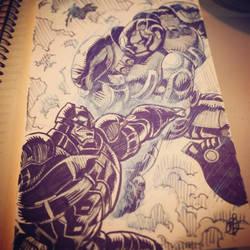 Batman vs Iron Man by splendidriver