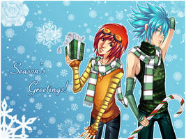 Seasons Greetings Wallpaper by Checkered-Fedora