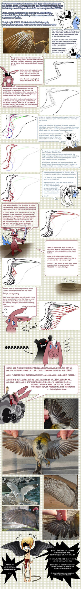 Drawing  Angel -Bird- Wings by Checkered-Fedora