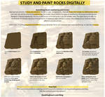 How to study, paint and render rocks digitally