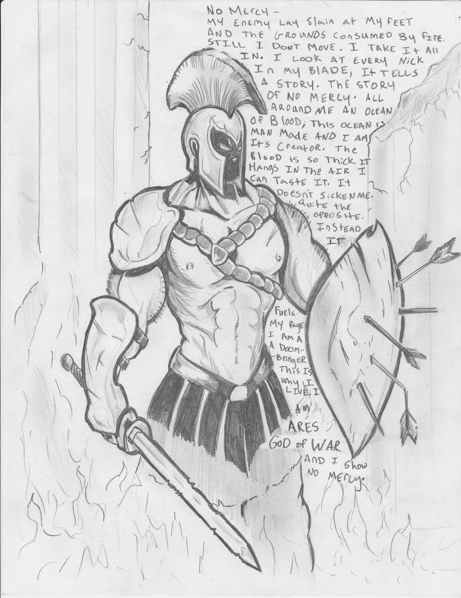 Greek God Ares Drawing Ares God Of War by 2co...