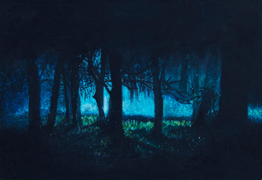 Anime Scenery Forest A dark forest by bob