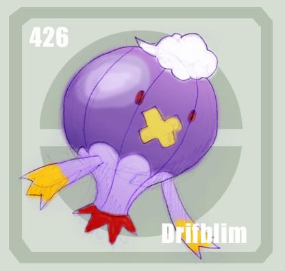 426 Drifblim by Pokedex