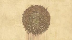 Cthulhu Aztec Seal Wallpaper 3840x2160 Dimmed vers