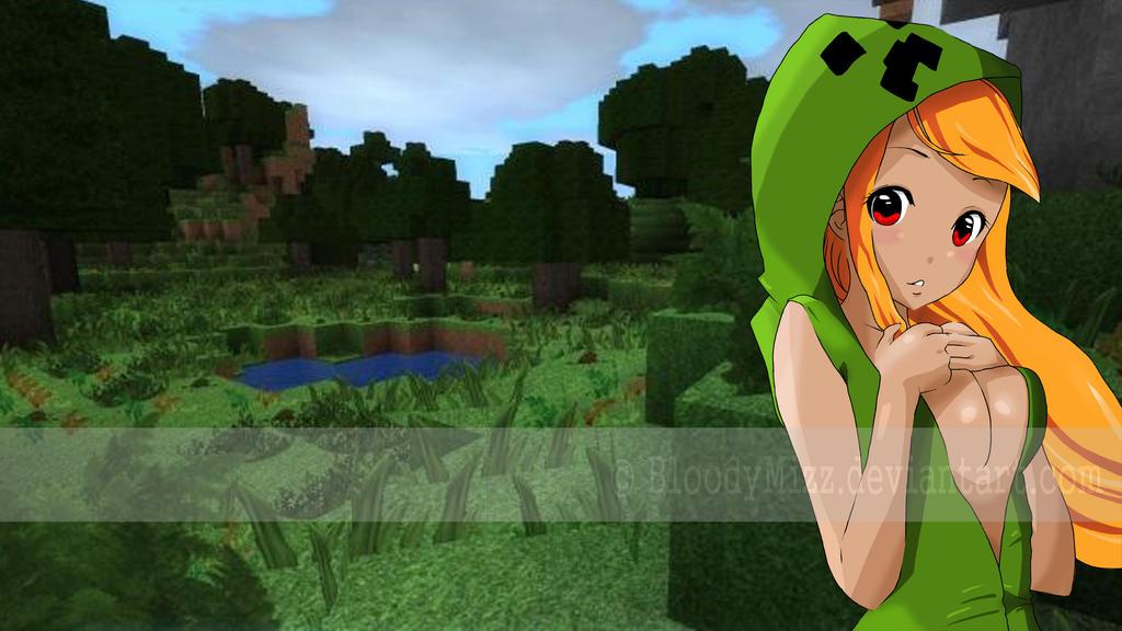 Minecraft - tzzzz ... bum! creeper girl by BloodyMizz on ...
