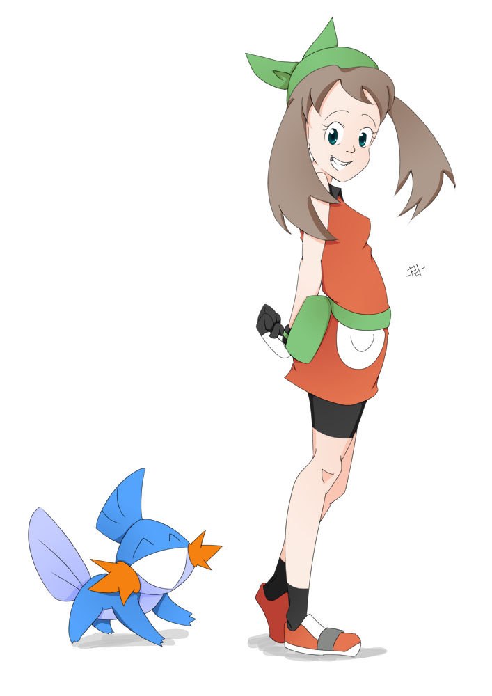 Pokemon Emerald: May and Mudkip by ButterLux on DeviantArt
