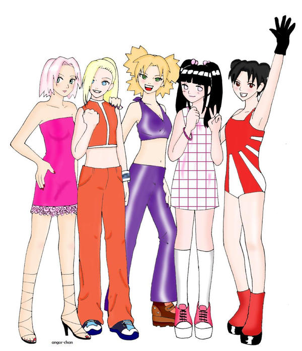 Naruto : spice girls by Angor-chan