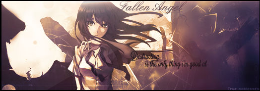 Fallen Angel- Destruction is my only thing...