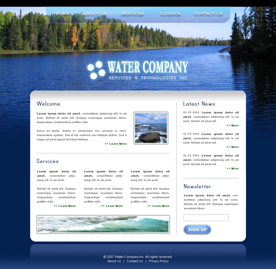Plantilla web - Water Company by STTestament