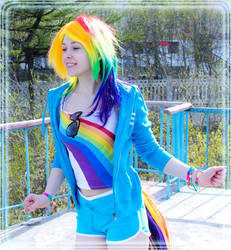 MLP cosplay - Rainbow Dash by RestlessMuse