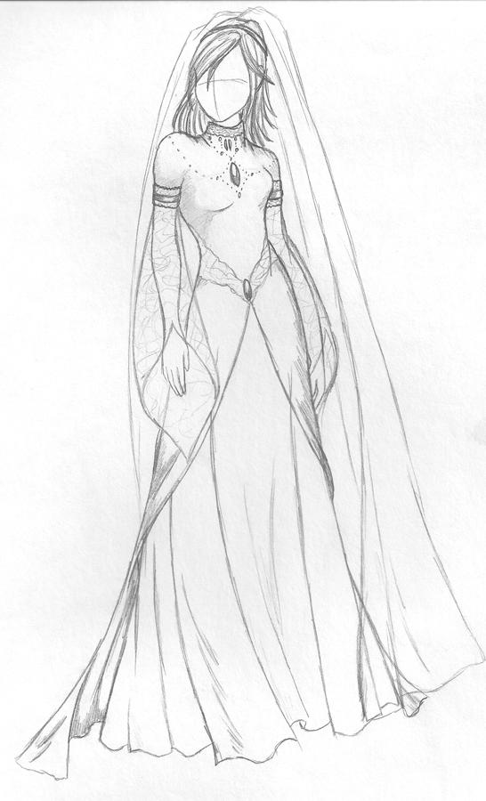 Wedding Dress for Girls Drawings