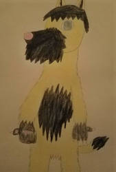 Muffin the wolf drawing by Bigw-Gamer-Dude