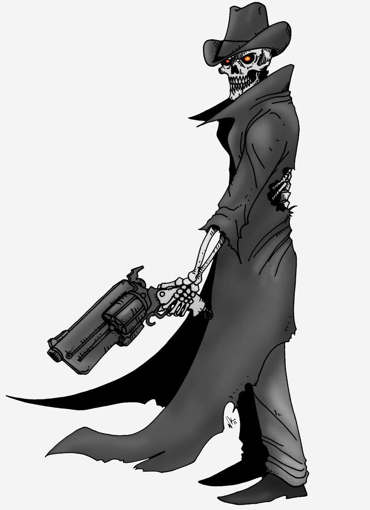 Skeleton Cowboy by wan...
