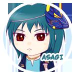 Button: Asagi by Khallandra