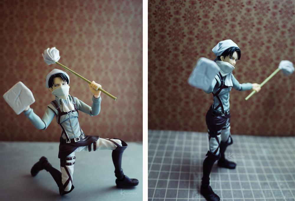 Cleaning Levi Fun by Khallandra