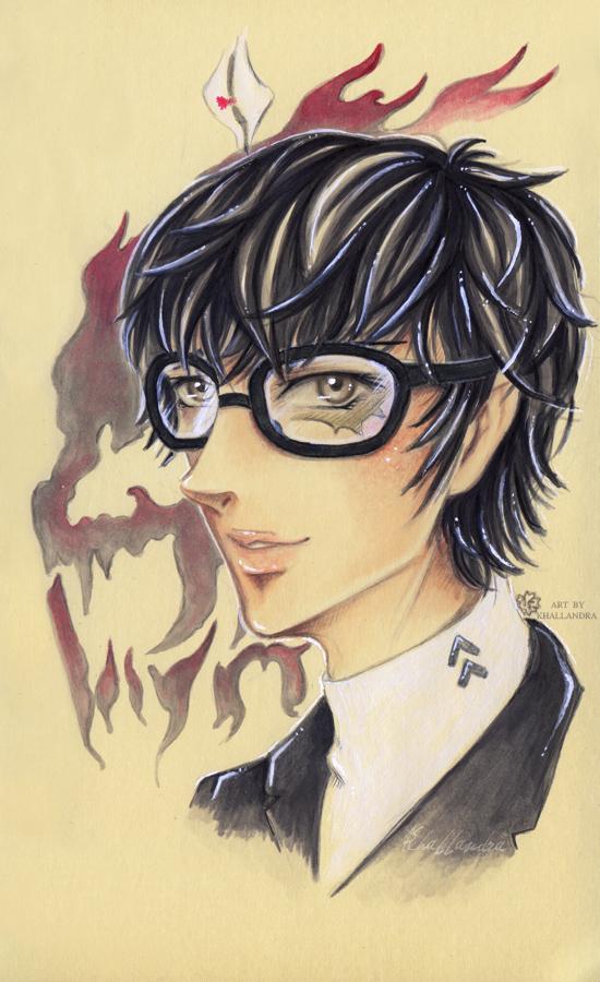 Persona 5 Protagonist by Khallandra