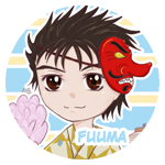 Button: Fuuma by Khallandra
