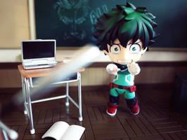 Midoriya's Test Flick by Khallandra