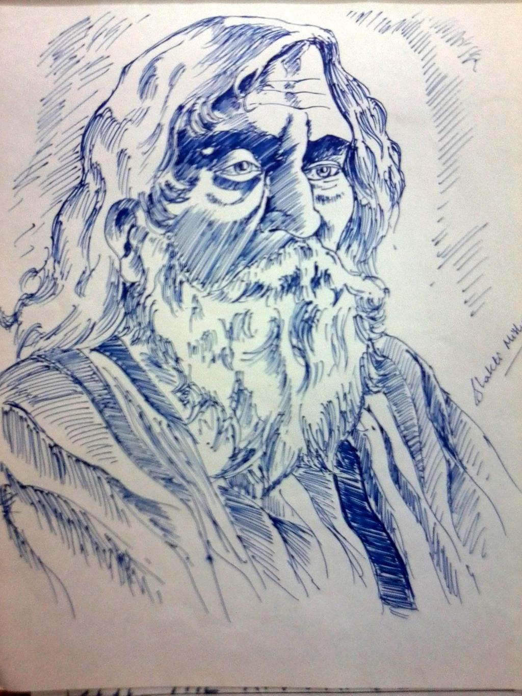 Rabindranath Tagore Pen  Rabindranath Tagore Sketch Picture